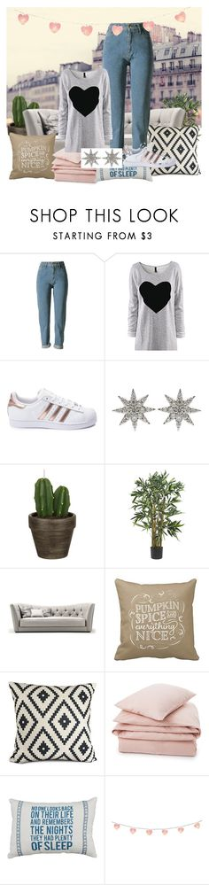 """Bez naslova #2"" by zara-11-608 ❤ liked on Polyvore featuring adidas, Bee Goddess, John Lewis and Lexington"
