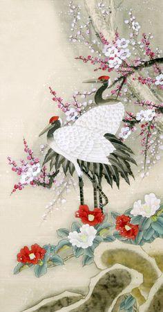 Crane,50cm x 100cm(19〃 x 39〃),2340072-z