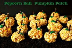 A popcorn ball means Fall is here. Make these fall treats with a twist. Adding a little orange color & leaves are sure to please your Trick-Or-Treaters
