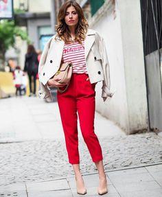 Red pants  @modatukusu