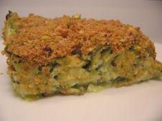 Les gourmandises d'Isa: COURGETTES AU CRUMBLE DE PISTACHES
