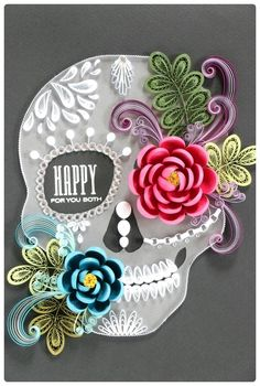 paper quilling - skull http://blog.naver.com/101kaikei/220189353132