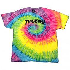 31cdbc35992 Thrasher Skateboard Magazine tie dye T shirt