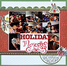Classic Winter Stickers Layout Project Idea from Creative Memories http://www.creativememories.com
