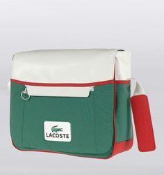 Lacoste New Retro Sport Messenger Bag - Pine Green - Rushfaster.com.au Australia