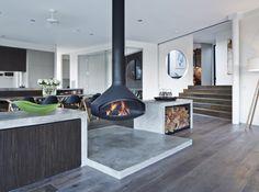 Antefocus wall mounted fireplace   Focus Fireplaces   Pinterest ...