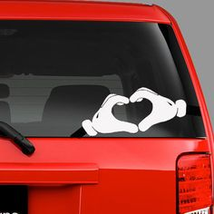 Mickey Mouse car decalMickey Mouse Heart by BrilliantDesignsShop