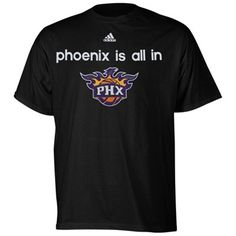 adidas Phoenix Suns NBA Draft All In T-Shirt - Black