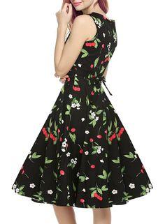 Women's Vintage 1950's Floral Spring Garden Picnic Dress – Cherry's Rockabilly