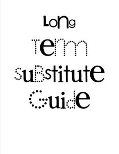 Letter of Introduction from Long-Term Substitute Taking