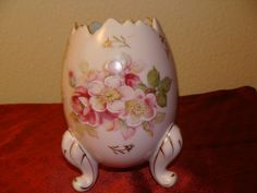 1967 Inarco Footed Lilac Egg Vase Porcelain by catherinefarrens, $9.00