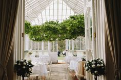 Conservatory wedding breakfast St Julians Club