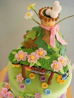 Tinkerbell cake for July