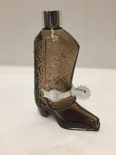 Vintage Avon Western Boot Spur Leather After Shave 5 oz Empty Bottle