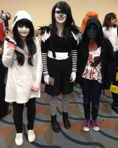 Jeff The Killer, Laughing Jack, and Eyeless Jack at Steel City Con, August 2014