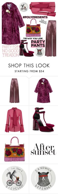 """""""#PolyPresents: Fancy Pants"""" by nicolevalents ❤ liked on Polyvore featuring Temperley London, Gucci, La Perla, Pierre Hardy, Dolce&Gabbana, Jimbobart, contestentry and polyPresents"""