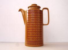 1970s Retro Hornsea Saffron Coffee Pot Vintage Tea by FillyGumbo