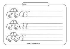 Auto - grafomotorika - pracovné listy pre deti