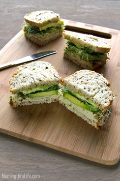 Green Goddess Roasted Turkey Sandwich - A fresh, crisp, flavor packed, delicious, roasted turkey, green goddess sandwich. Recipe @ NomingthruLife.com