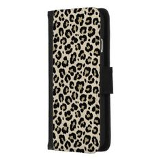 Leopard Animal Print Pattern iPhone 8/7 Wallet Case - animal gift ideas animals and pets diy customize