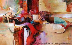 Arte abstracto desnuda figura pintura reproducción por FigureArt
