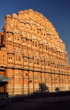 "Hawa Mahal: The ornamental facade of this ""Palace of Winds"" is a landmark in Jaipur."