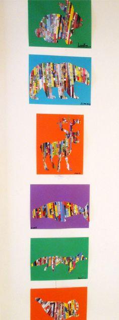 Les animaux de l'Artique: Arts plastiques - Animals of the Arctic: Magazine Art: Collage Kunst, Art Du Collage, Kids Collage, Art For Kids, Crafts For Kids, Arts And Crafts, Big Kids, Classe D'art, School Art Projects