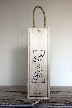 Alicja w Krainie Decoupage...: A to pudełko ślubne na wino do kompletu