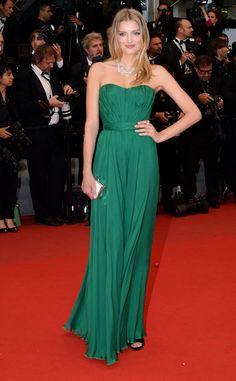 Lily Donaldson, su collar de Chopard fue el accesorio estrella de su look, Cannes 2012
