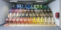 Rainbow of chairsQ Color of the chair Tolix A