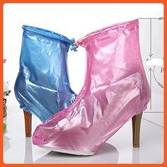 Puddles Heels For Her - Women's Waterproof Emergency High Heel Rain Wear for the Feet, If you Splash We've Got You Covered!, Pink / Blue (Small 6-6.5, Pink) - Outdoor shoes for women (*Amazon Partner-Link)