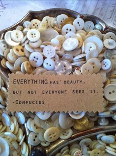 Everything has beauty, but not everyone sees it. ---Confucius