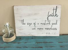 Faith The Size Of A Mustard Seed Can Move Mountains/Matthew