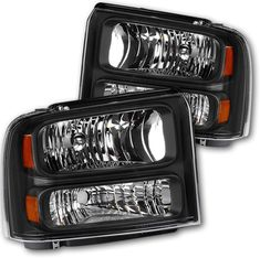 2005 Ford Excursion OE Headlamp Replacement,Smoked Housing,One-Year Warranty Headlight Assembly for 2005 2006 2007 Ford F250 F350 F450 F550 Super Duty Passenger And Driver Side