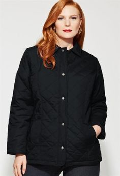 Avenue Plus Size Quilted Woven Jacket $29.00 #bestseller