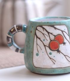 Ceramics winter mug