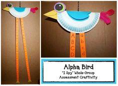 Classroom Freebies: Alpha Bird Assessment Craftivity