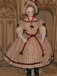 ~~~ Rare early French Teenager Poupee with Wooden Body ~~~ from whendreamscometrue on Ruby Lane
