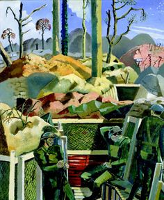 Paul Nash, Spring in the Trenches, Ridge Wood, 1917, 1918.