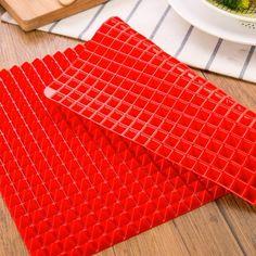 Baking Pyramid Red Silicone Mat Price: 8.99 & FREE Shipping - - - - - #cakesinstyle #happy #instalike #handmade #gourmet #bakery