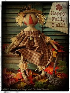 Scarecrow by Homespun Hugs and Calico Kisses Primitives