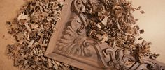 Wooden moldings with 45deegre fitting for historic woodworks and cabinetry.
