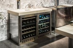 Cave à vin à usage résidentiel / à poser / en inox / électrique 130 ALPES-INOX