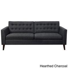 Moser Bay Furniture Estrella Beige Linen, Polyester, Wood-tufted Sofa
