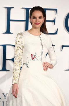 Felicity Jones Wears Dior Haute Couture Dress at The Theory of Everything UK Premiere