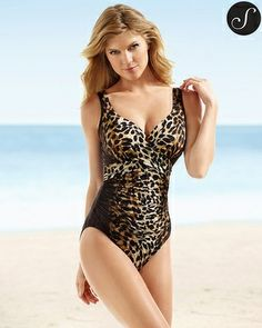 bfd8e46c7c Soma Intimates Miraclesuit Natural Animal Sangria One Piece Swimsuit  #somaintimates Miracle Swimsuit, Sangria,