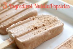 3 Ingredient Nutella Popsicles - Simply Bakings