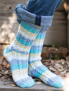 Free Knit Pattern Download -- These Faux Cable Socks, designed by Lisa Carnahan, are featured in episode 7, season 3 of Knit and Crochet Now! TV. Learn more here: https://www.anniescatalog.com/knitandcrochetnow/patterns/detail.html?pattern_id=97&series=2