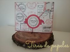 Tarjeta-sobre scrapbook Place Cards, Place Card Holders, Paper Strips, Paper Envelopes, Cards