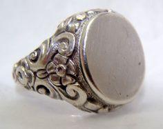 Antique French Sterling Silver Seal Wax,art Nouveau Antiques Lustrous